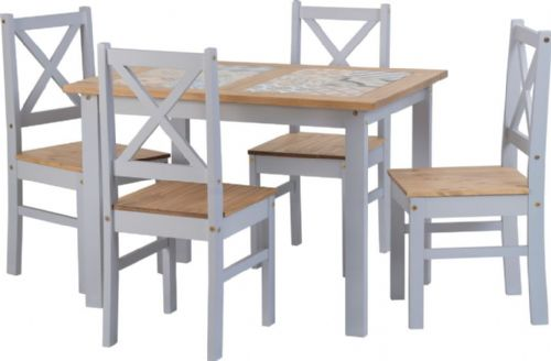 Bondo 4 Seater Grey Dining Set